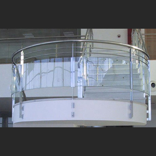 Barandas de acero inoxidable y vidrios curvos zona oeste for Precios de toldos para balcones